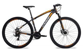 Bicicleta MTB Oggi Hacker Sport preta/laranja