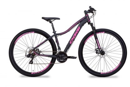 Bicicleta MTB Oggi Float Sport preta/uva