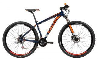 Bicicleta MTB Caloi Explorer Sport 2019 preta/laranja