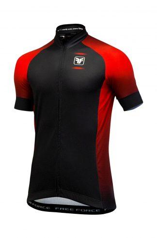 Camisa Mascula Free Force Sport Horizon preta/vermelha frente
