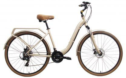 Bicicleta Urbana Groove Urban 2019 champagne com bagageiro integrado