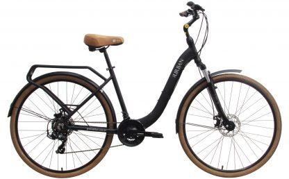 Bicicleta Urbana Groove Urban 2019 preta com bagageiro integrado