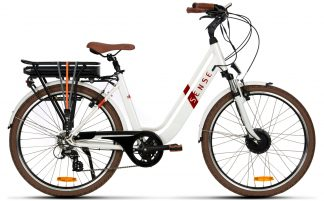 Bicicleta Elétrica Sense Breeze 2019 branca pérola