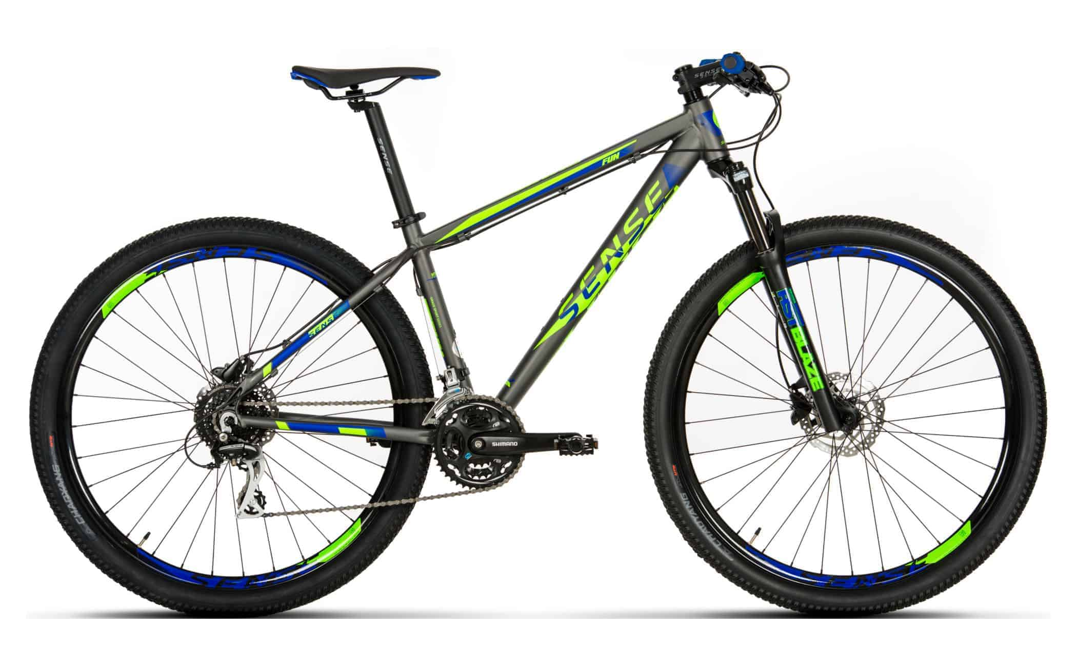 03a8f8259 Bicicleta MTB Sense Fun 2019 verde azul