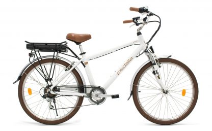 Bicicleta Urbana Elétrica Pedalla Gioia Masculina branca