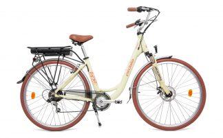 Bicicleta Urbana Elétrica Pedalla Rodda Unissex creme