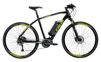 Bicicleta Elétrica Urbana Caloi E-Vibe City Tour 2019 preta amarela