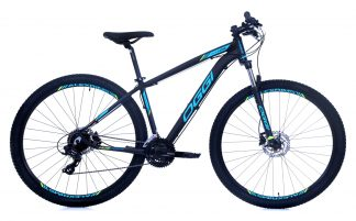 Bicicleta MTB Oggi Hacker Sport HDS 2019 preta azul tiffany